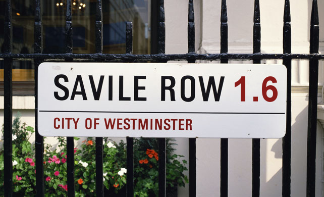 Savile Row sign
